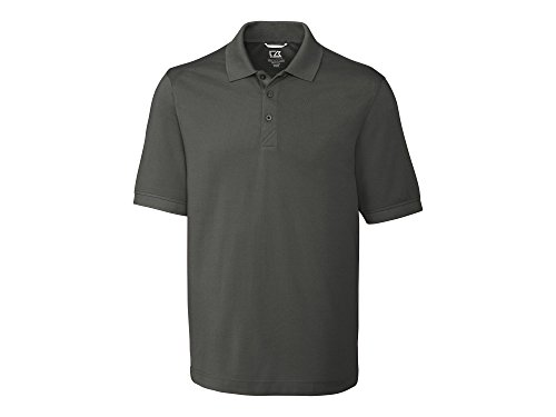 Advantage Collection - Cutter & Buck Men's 35+UPF, Short Sleeve Cotton+ Advantage Polo Shirt, Elemental Grey, X-Large