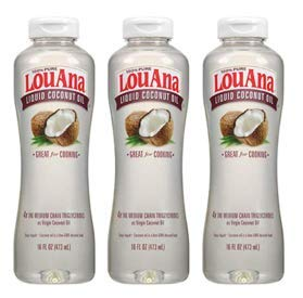LouAna Liquid Coconut Oil, 16 oz, Great For Cooking (Pack of 3) by LouAna