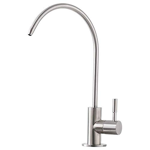 Auxiliary Faucet - Ufaucet Modern Best Stainless Steel Brushed Nickel Kitchen Bar Sink Drinking Water Purifier Faucet, Commercial Water Filtration Faucet