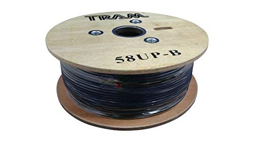 Tram 58PT B Rg58 A/U 95% Shielded Coax Cable for Cb / Ham /