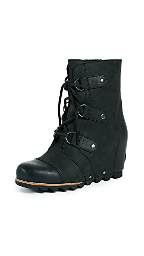 Sorel Women's Joan of Arctic Wedge Booties, Black, 9 B(M) US by SOREL