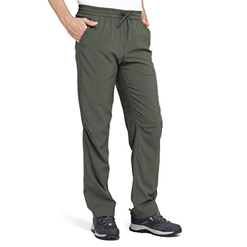 CAMEL Men's Quick-Dry Pants Travel Pants Ultralight Hiking Sweatpants Breathable Camping Sweatpants Summer Olive (Best Quick Dry Pants)