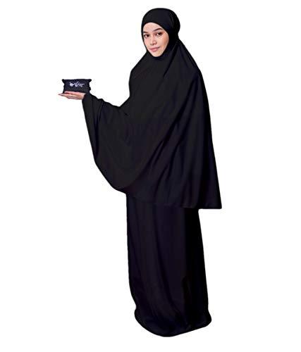 Muslim Women's Prayer Dress Pocket-Size Hijab Scarf Skirt Islamic Abaya by AJAR by Ajar (Image #6)