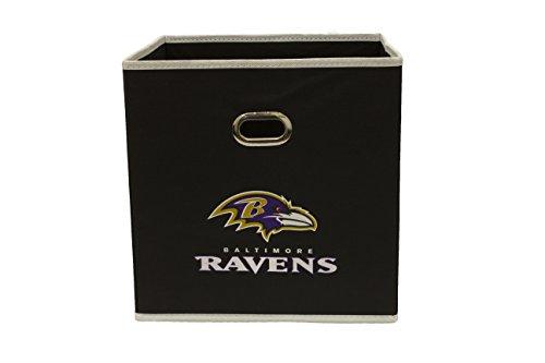 NFL Baltimore Ravens Fabric Storage Bin, 11 x 11-inches, Purple