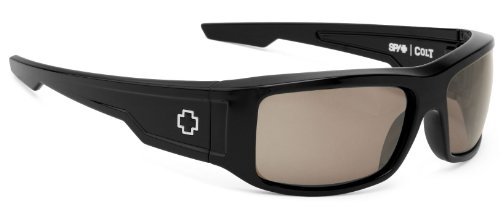Spy Optics Colt Wrap Polarized Sunglasses,Black,63 - Glasses Helm Spy