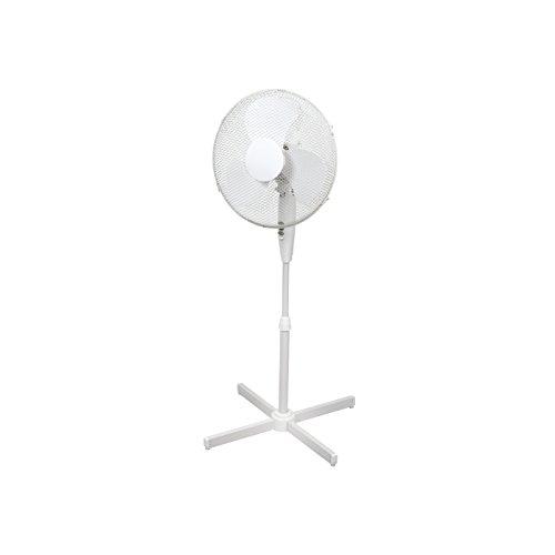 ito Standventilator 40 cm Durchmesser weiß - oszillierend + 3 Geschwindigkeiten einstellbare Höhe / verstellbarer Neigungswinkel