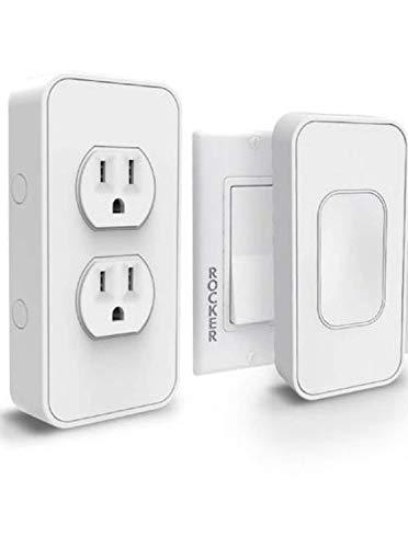 SimplySmart Slim Smart Light Switch That Snaps Over Existing Light Switches + Bonus Dual Smart Outlet– Rocker