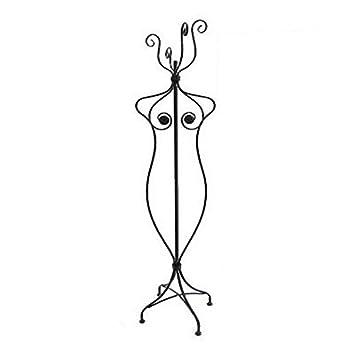 REVIMPORT - Perchero (Busto de Mujer Hierro Forjado Negro ...