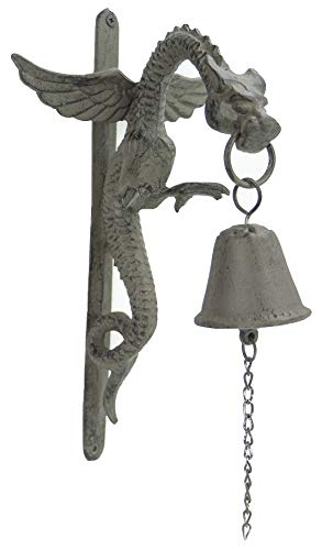 Cast Iron Gothic Style Hanging Dragon Bell | -