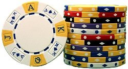3000 Clay Composite 11.5 gram tri-color Ace King Poker Chips - TEXAS HOLDEM SPECIAL, Wholesale Price