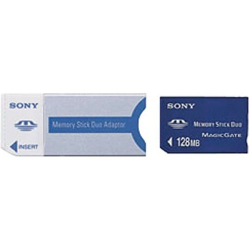 Sony DUO MSH-M128A 128 MB Memory Stick (Retail - Sony Memory Stick Duo