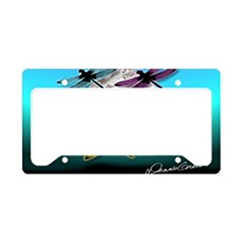 CafePress Dragonfly Night moon License Plate Holder Aluminum License Plate Frame, License Tag Holder ()