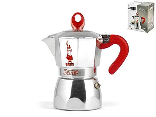 Bialetti Cafetera Moka Dama Vanity roja 3 tazas: Amazon.es: Hogar