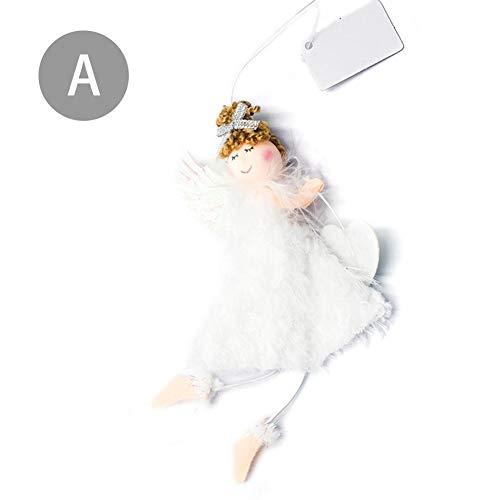 - Christmas Tree Decoration Pendant DIY Angel Plush Toys Party Decor Ornaments