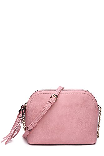 MKF Crossbody Bags for women - Adjustable Strap - Vegan Leather - Crossover Side Messenger Womens Purse Blush