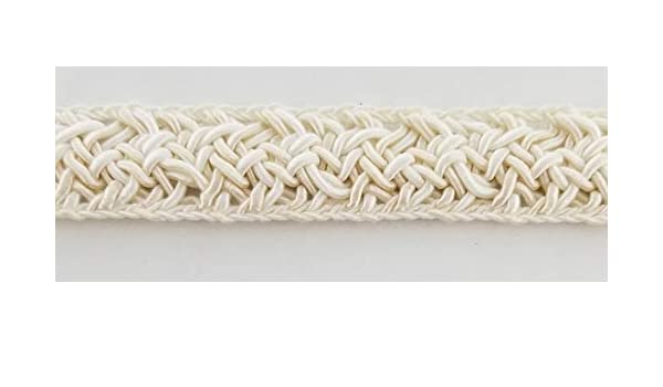 Ecru//White 3//4 Braid Gimp Trimming Many Colors Available! 10 Continuous Yards