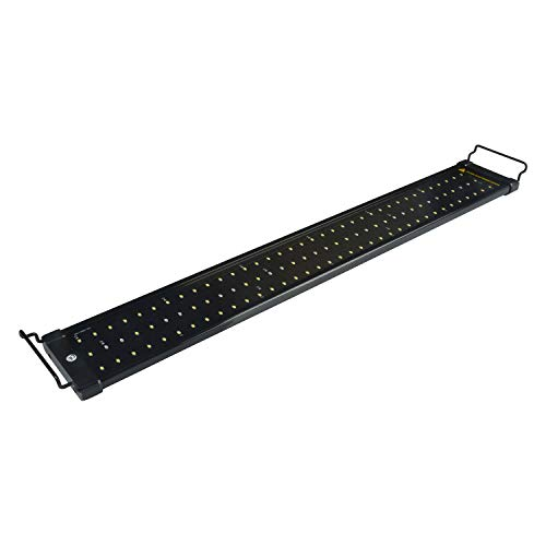 NICREW ClassicLED Aquarium Light, Fish Tank Light with Extendable Brackets, White and Blue LEDs, Size 30 to 36 Inch, 18 - Light Changing Color Aquarium