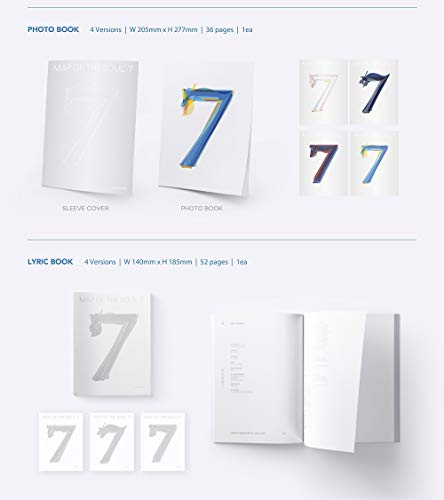 Bighit Ent BTS Bangtan Boys - MAP of The Soul : 7 [ver.1] Album+Folded Poster+Extra Photocards Set