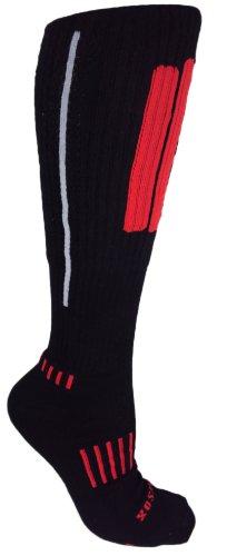 (MOXY Socks Knee-High Performance Deadlift APeX Socks, Black/Red/Grey)