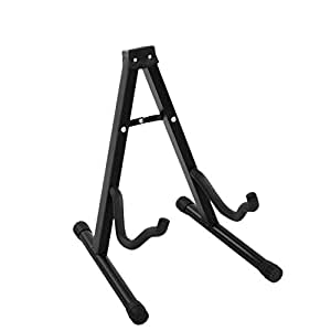 Portable Folding Guitar Stand Electric Acoustic Bass Metal A Frame Rack Holder