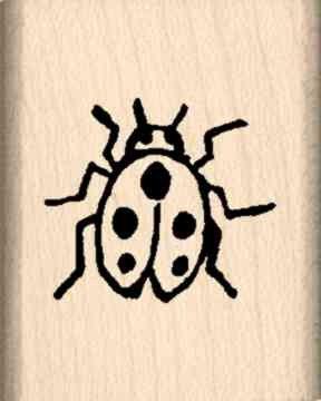 Miniature Ladybug Rubber Stamp Lady Bug