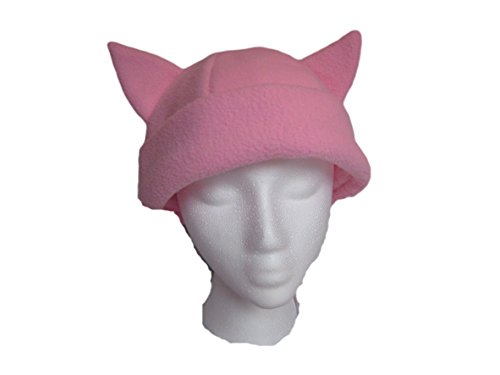 Pink Pussyhat Cat Ears Hat, Pussycat Hat, Women's March, Anime, Cosplay, Manga, Beanie, Light - Fleece Cap Cosplay