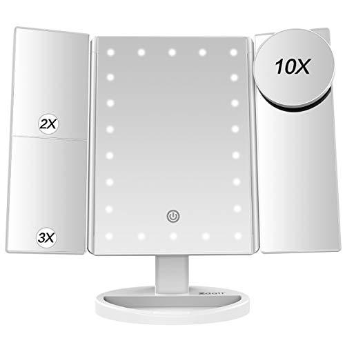 ZDATT Makeup Mirror Vanity Mirror with Lights Makeup Mirror with Lights 2X/10X/1X -