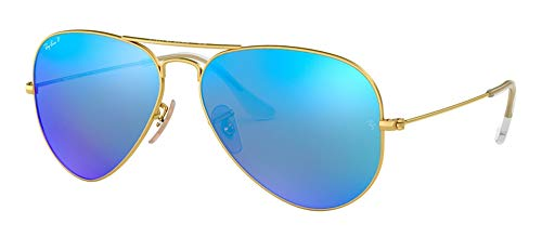 Polarized Gold Mirror - Ray Ban RB3025 112/4L 58M Matte Gold/Polarized Blue Mirror Aviator