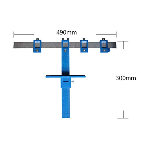 Multifunction Drill Punch Locator Mobilier Travail du bois Forage Diam/ètre du trou Guide de per/çage du bois Menuiserie Menuiserie Outils /à main Bleu