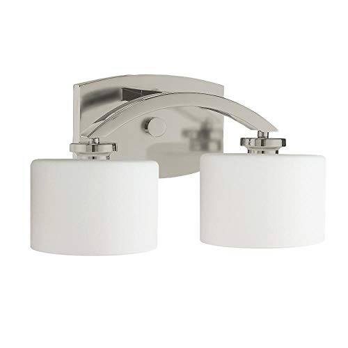 Langdon Mills 10200 Regent 2-Light Bathroom Vanity Light, Brushed Nickel