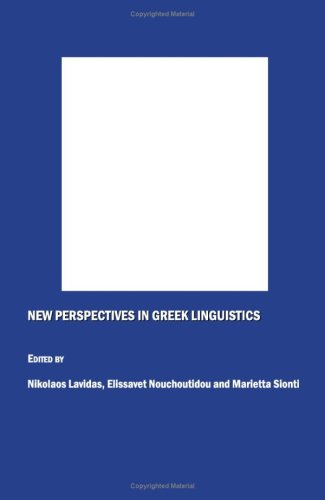 New Perspectives in Greek Linguistics