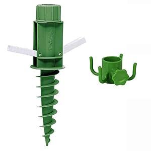 Sekey Soporte para Sombrilla para Sujetar La Sombrilla Ganchos(Verde