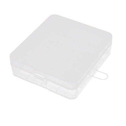 Sostenedor duro caja de plstico caja de almacenamiento de contenedores para la batera 18650