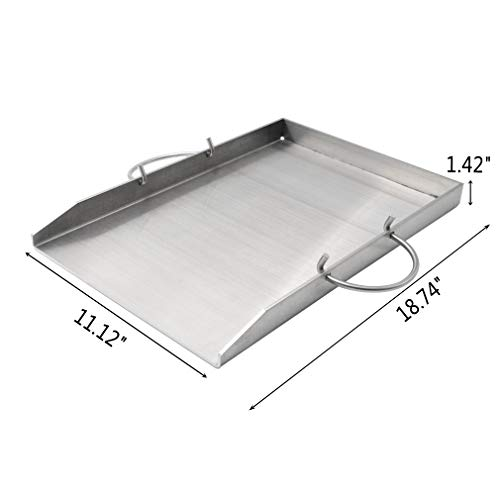 Stanbroil Stainless Steel Griddle Pan With Holder