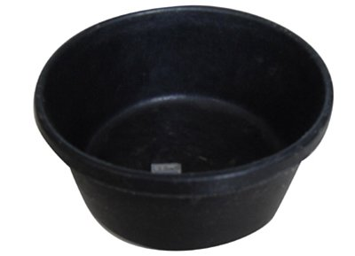 TRUCK MR2QR/PAN-BLK Mr 2 quart Rubber Feed Pan, 1 Count (2 Quart Feed)