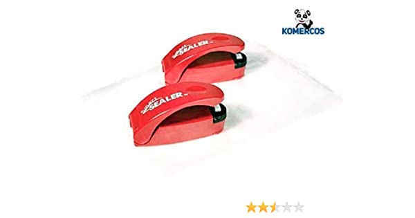 Pack of 2 SmartSealer Battery Operated Bag Sealer With Opener with 20 food bags
