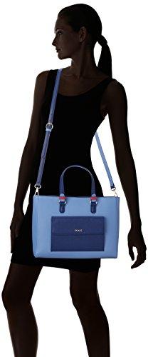 Tous - City Essce, Borse Tote Donna Multicolore (Marino-azul)