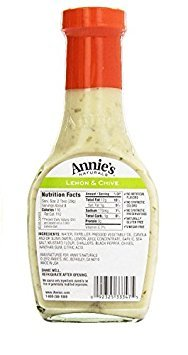 Annie`s Natural Dressing ,Lemon & Chive ,8 Fl oz, (Pack of 3)