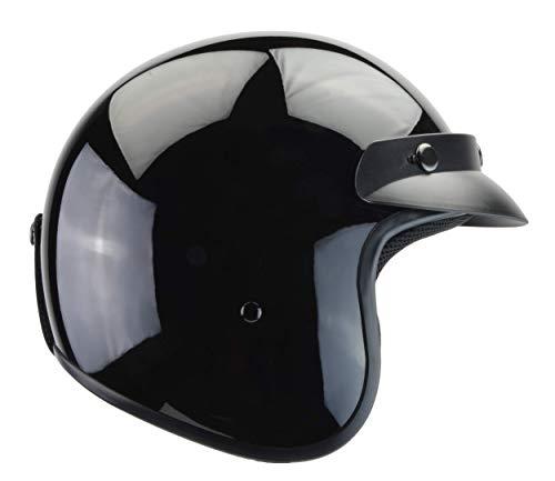 - Vega Helmets Unisex-Child Style CO5 Youth Open Face Helmet Gloss (Black, Medium