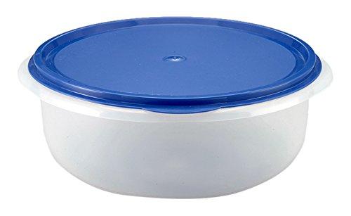 Axentia Teigschüssel mit Plopp-Deckel, runde Salatschüssel, 6 Liter, 13 x 28 cm, transparente Frischhalteschüssel, ideal für Hefeteig und Aufbewahren und Frischhalten von Speisen, spülmaschinenfest