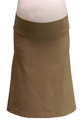 Japanese Weekend A Line OK Bengaline Maternity Skirt - Taupe - Small