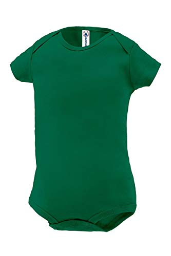 Delta Apparel Plain Basic Infant Baby Boys or Girls Creeper/Onesie/Bodysuit/Snapsuit (24 mo, Green) ()