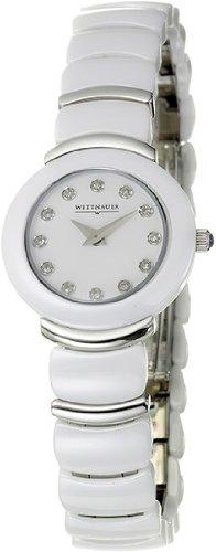 Wittnauer Ladies Round White Ceramic 8 Diamond Watch 12P06 (Watch Womens Wittnauer Ceramic)