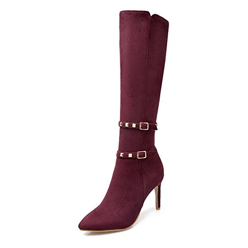 Boots Buckle Stiletto Pinker Frosted AdeeSu Red Winkle Girls zgAxwOqF