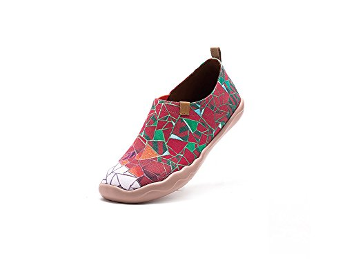 stockist online low shipping UIN Women's Stained Glass Window Canvas Loafer Shoe Red enjoy cheap online discount latest 8OoDQ