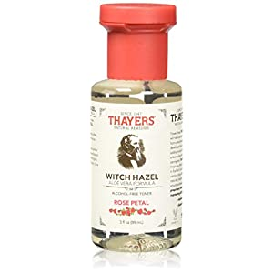 THAYERS Alcohol-Free Rose Petal Witch Hazel Facial Toner with Aloe Vera Formula – 3oz