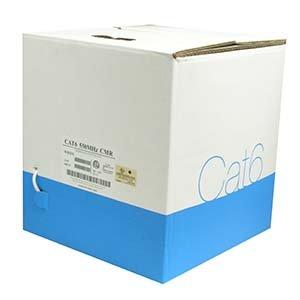 Arrowmounts AM-Cat6-Bulk-000WT 1000' Cat 6 Cat6 Solid Wire Bulk Ethernet LAN Network Cable White CMR