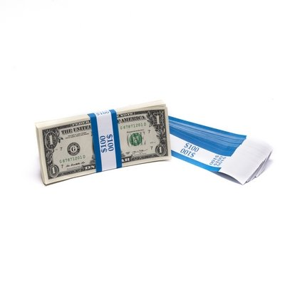 Barred ABA $100 Currency Band Bundles (2000 Bands)