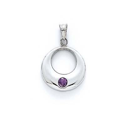 Pendentif en argent Sterling cercle JewelryWeb