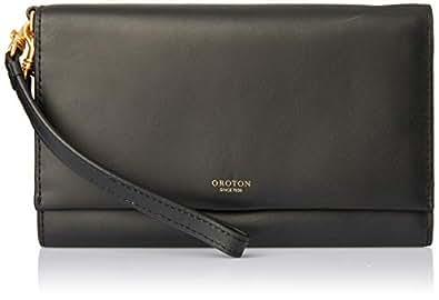 Oroton Women's Escape Clutch & Pouch, Black, One Size